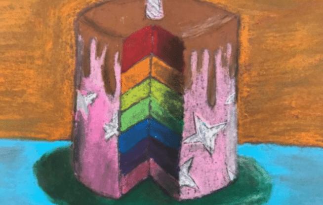 Wayne Thiebaud Cakes Lesson math and art