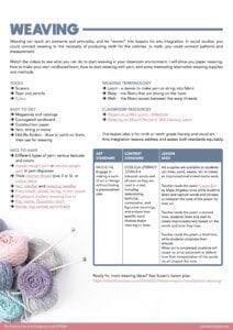 paper weaving techniques resource page