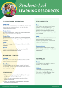 student led learning resource