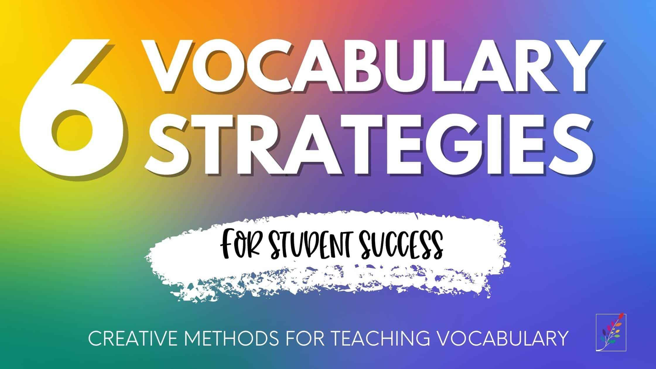 vocabulary resource guide